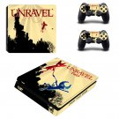 Unravel Two decal skin sticker for PS4 Slim console and controllers