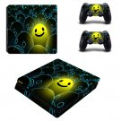 Emoji decal skin sticker for PS4 Slim console and controllers
