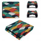 Retro wallpaper decal skin sticker for PS4 Slim console and controllers