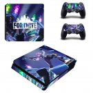 Fortinte decal skin sticker for PS4 Slim console and controllers