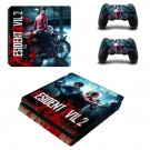 Resident Evil 2 decal skin sticker for PS4 Slim console and controllers