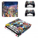 Super Smash Bros Ultimate decal skin sticker for PS4 Slim console and controllers
