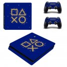Classic decal skin sticker for PS4 Slim console and controllers