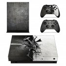 Metal Wallpaper decal skin sticker for Xbox One X console and controllers