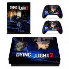 Dying Light 2 decal skin sticker for Xbox One X console and controllers