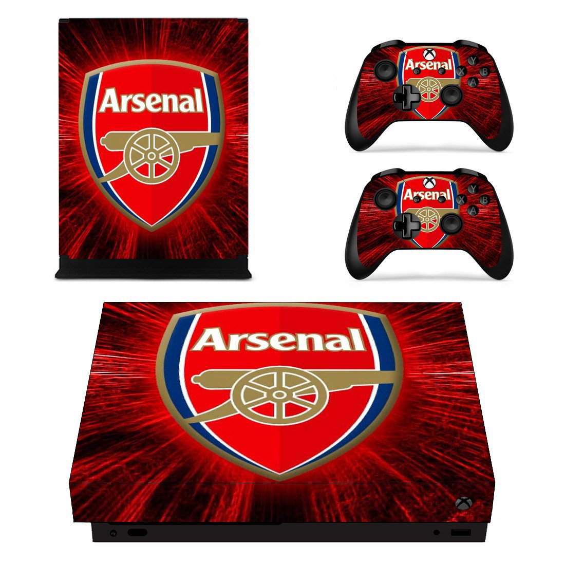 Arsenal FC decal skin sticker for Xbox One X console and controllers
