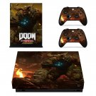 Doom Eternal decal skin sticker for Xbox One X console and controllers