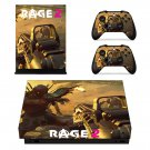 Rage 2 decal skin sticker for Xbox One X console and controllers