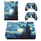 Painted Wallpaper decal skin sticker for Xbox One X console and controllers