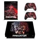The Predator decal skin sticker for Xbox One X console and controllers