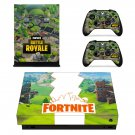 Fortnite battle royale decal skin sticker for Xbox One X console and controllers