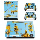Fortnite Guns decal skin sticker for Xbox One X console and controllers