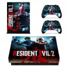 Resident Evil 2 decal skin sticker for Xbox One X console and controllers