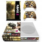Rage 2 decal skin sticker for Xbox One S console and controllers