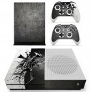 Metal Wallpaper decal skin sticker for Xbox One S console and controllers
