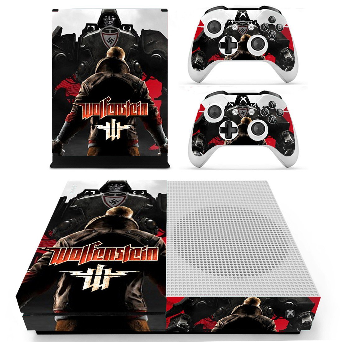 Wolfenstein decal skin sticker for Xbox One S console and controllers