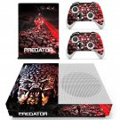 The Predator decal skin sticker for Xbox One S console and controllers