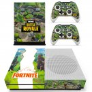 Fortnite battle royale decal skin sticker for Xbox One S console and controllers