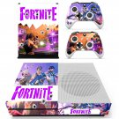 Fortnite decal skin sticker for Xbox One S console and controllers