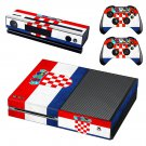 Croatia football team decal skin sticker for Xbox One console and controllers