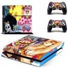 Onepiece decal skin sticker for PS4 console and controllers