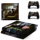 Cyberpunk decal skin sticker for PS4 console and controllers