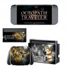 Octopath Traveller decal skin sticker for Nintendo Switch console and controllers