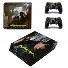 Cyberpunk decal skin sticker for PS4 Pro console and controllers