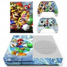 Super Mario Bros decal skin sticker for Xbox One S console and controllers