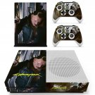Cyberpunk decal skin sticker for Xbox One S console and controllers