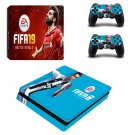 FIFA 19 decal skin sticker for PS4 Slim console and controllers