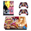Onepiece decal skin sticker for Xbox One X console and controllers