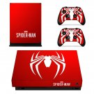 Spider Man decal skin sticker for Xbox One X console and controllers