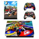 Super Mario Bros decal skin sticker for Xbox One X console and controllers