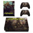 Cyberpunk decal skin sticker for Xbox One X console and controllers