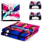 FIFA 19 decal skin sticker for PS4 console and controllers