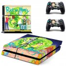 Rick and Morty decal skin sticker for PS4 console and controllers