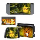 Pokemon go pikachu decal skin sticker for Nintendo Switch console and controllers