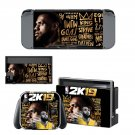 NBA 2K19 decal skin sticker for Nintendo Switch console and controllers