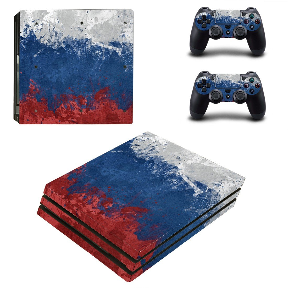 Painted Picturedecal skin sticker for PS4 Pro console and controllers