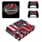 Tampa bay buccaneers decal skin sticker for PS4 Pro console and controllers