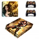 Wonder Woman decal skin sticker for PS4 Pro console and controllers