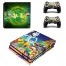 Rick and Morty decal skin sticker for PS4 Pro console and controllers