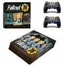 Fallout 76 decal skin sticker for PS4 Pro console and controllers