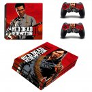 Red Dead Redemption 2 decal skin sticker for PS4 Pro console and controllers