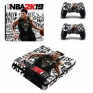 NBA 2K19 decal skin sticker for PS4 Slim console and controllers