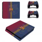 FC Barcelona decal skin sticker for PS4 Slim console and controllers