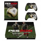 PES 2019 decal skin sticker for Xbox One X console and controllers
