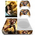 Wonder Woman decal skin sticker for Xbox One S console and controllers