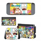 Rick and Morty decal skin sticker for Nintendo Switch console and controllers